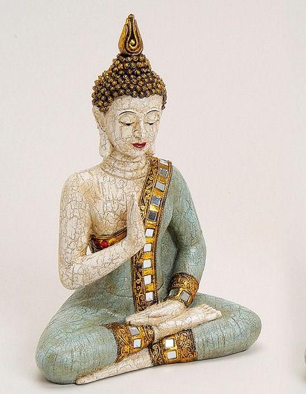 thai buddha figur sitzend 29 cm mint. Black Bedroom Furniture Sets. Home Design Ideas