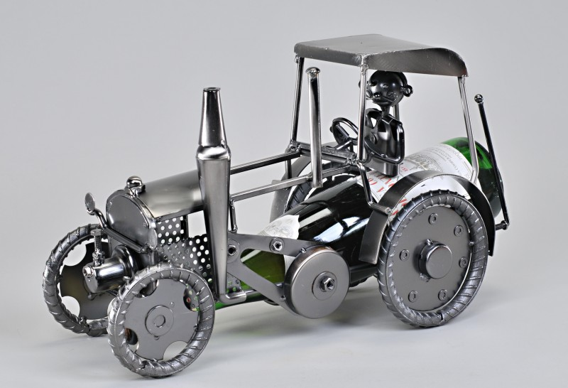 Flaschenhalter aus metall quot traktor cm