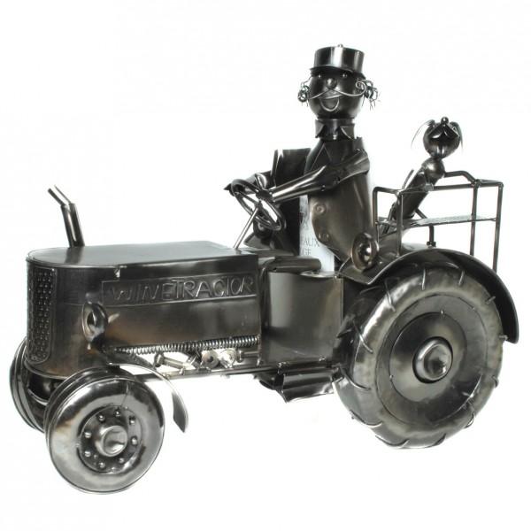Flaschenhalter xxl aus metall quot traktor cm